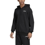 Adidas Men's Essentials Plain Fullzip Hoodie - Black Adidas Men's Essentials Plain Fullzip Hoodie - Black