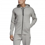 Adidas Men's ID Stadium Full-Zip Hoodie - mgh solid grey/raw white Adidas Men's ID Stadium Full-Zip Hoodie - mgh solid grey/raw white
