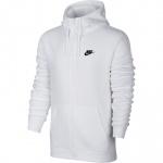 Nike Men's Full-Zip Sportswear Hoodie - WHITE Nike Men's Full-Zip Sportswear Hoodie - WHITE