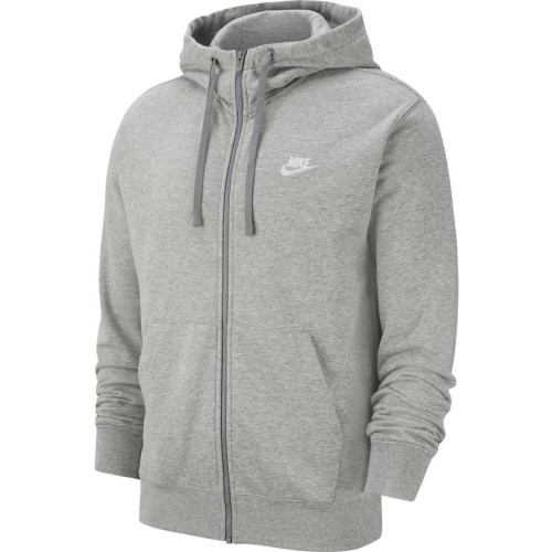 Nike Men's Sportswear Club Full-Zip Hoodie - DK GREY HEATHER