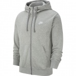 Nike Men's Sportswear Club Full-Zip Hoodie - DK GREY HEATHER Nike Men's Sportswear Club Full-Zip Hoodie - DK GREY HEATHER