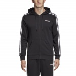 Adidas Men's Essentials 3 Stripes Fullzip Hoodie - Black/White Adidas Men's Essentials 3 Stripes Fullzip Hoodie - Black/White