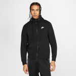 Nike Mens Sportswear Club Fleece Hoodie - BLACK Nike Mens Sportswear Club Fleece Hoodie - BLACK
