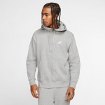Nike Mens Sportswear Club Fleece Hoodie - DK GREY HEATHER/MATTE SILVER Nike Mens Sportswear Club Fleece Hoodie - DK GREY HEATHER/MATTE SILVER