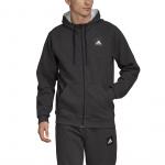 Adidas Mens MHE FZ Stadium Hoodie - Black Melange Adidas Mens MHE FZ Stadium Hoodie - Black Melange
