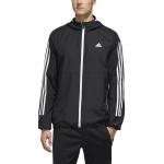 Adidas Mens MH WB 3S Hoodie - Black/White