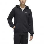 Adidas Mens Essential Feelcozy Fleece Fullzip - Black/White Adidas Mens Essential Feelcozy Fleece Fullzip - Black/White