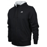 New Balance Mens Full-Zip Hoodie - BLACK New Balance Mens Full-Zip Hoodie - BLACK