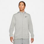 Nike Mens Dri-Fit Full-Zip Hoodie - DK GREY HEATHER/BLACK Nike Mens Dri-Fit Full-Zip Hoodie - DK GREY HEATHER/BLACK