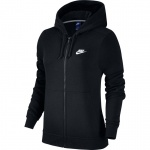 Nike Women's Full-Zip Sportswear Hoodie - BLACK Nike Women's Full-Zip Sportswear Hoodie - BLACK
