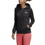 Adidas Women's Essentials Solid Full Zip Hoodie - Black/White Adidas Women's Essentials Solid Full Zip Hoodie - Black/White