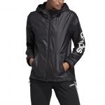 Adidas Women's Essentials Linear Windbreaker - Black/White Adidas Women's Essentials Linear Windbreaker - Black/White