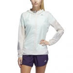 Adidas Women's Response Translucent Wind Jacket - raw white Adidas Women's Response Translucent Wind Jacket - raw white