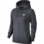 Nike Women's Full-Zip Sportswear Hoodie - Charcoal Heather Nike Women's Full-Zip Sportswear Hoodie - Charcoal Heather