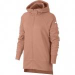 Nike Women's Dry Full-Zip Training Hoodie - ROSE GOLD/WHITE Nike Women's Dry Full-Zip Training Hoodie - ROSE GOLD/WHITE