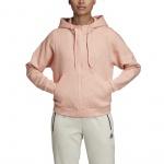 ADIDAS Women's ID Melange Hoodie - glow pink/raw white ADIDAS Women's ID Melange Hoodie - glow pink/raw white