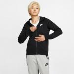 Nike Womens Essential Full-Zip Fleece Hoodie - BLACK Nike Womens Essential Full-Zip Fleece Hoodie - BLACK