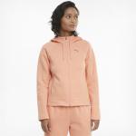 PUMA Womens Evostripe Full-Zip Hoodie- Apricot Blush PUMA Womens Evostripe Full-Zip Hoodie- Apricot Blush
