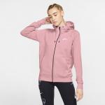 Nike Womens Essential Full-Zip Fleece Hoodie - PINK GLAZE/WHITE Nike Womens Essential Full-Zip Fleece Hoodie - PINK GLAZE/WHITE