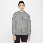 Nike Womens Essential Full-Zip Fleece Hoodie - DK GREY HEATHER/WHITE Nike Womens Essential Full-Zip Fleece Hoodie - DK GREY HEATHER/WHITE