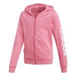 Adidas Girls Essentials Linear Full Zip Hoodie - semi solar pink/white Adidas Girls Essentials Linear Full Zip Hoodie - semi solar pink/white