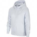 Nike Girls Sportswear Fleece Hoodie - FOOTBALL GREY/WHITE Nike Girls Sportswear Fleece Hoodie - FOOTBALL GREY/WHITE