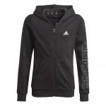 Adidas Girls Essentials Full-Zip Hoodie - Black/White Adidas Girls Essentials Full-Zip Hoodie - Black/White