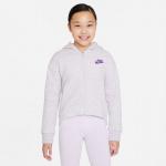 Nike Girls Sportswear Club Fleece Hoodie - PURPLE CHALK/HTR/WILD BERRY Nike Girls Sportswear Club Fleece Hoodie - PURPLE CHALK/HTR/WILD BERRY