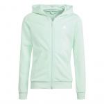 Adidas Girls Essentials Full-Zip Hoodie - Clear Mint/White Adidas Girls Essentials Full-Zip Hoodie - Clear Mint/White