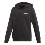 ADIDAS Boys Essentials Linear Full Zip Hoodie-black/white ADIDAS Boys Essentials Linear Full Zip Hoodie-black/white
