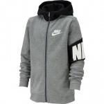 Nike Boys Core Amplify Full-Zip Hoodie - Carbon Heather/Black Nike Boys Core Amplify Full-Zip Hoodie - Carbon Heather/Black