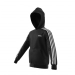 Adidas Boys Essentials 3 Stripes Full Zip Hoodie - Black/White Adidas Boys Essentials 3 Stripes Full Zip Hoodie - Black/White