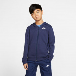 Nike Boys Sportswear Club Full-Zip Hoodie - MIDNIGHT NAVY Nike Boys Sportswear Club Full-Zip Hoodie - MIDNIGHT NAVY