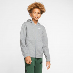 Nike Boys Sportswear Club Full-Zip Hoodie - CARBON HEATHER/SMOKE GREY Nike Boys Sportswear Club Full-Zip Hoodie - CARBON HEATHER/SMOKE GREY