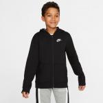 Nike Boys Sportswear Club Full-Zip Hoodie - BLACK Nike Boys Sportswear Club Full-Zip Hoodie - BLACK