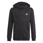 Adidas Boys Essentials Big Logo Full-Zip Hoodie - Black/White Adidas Boys Essentials Big Logo Full-Zip Hoodie - Black/White