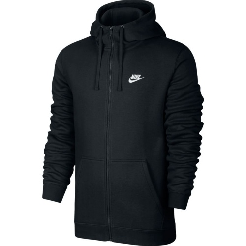 Nike Men's Full-Zip Sportswear Hoodie - BLACK