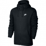Nike Men's Full-Zip Sportswear Hoodie - BLACK Nike Men's Full-Zip Sportswear Hoodie - BLACK