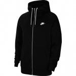 Nike Mens Sportswear Full-Zip Hoodie - Black Nike Mens Sportswear Full-Zip Hoodie - Black