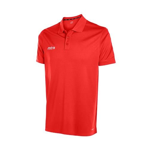 Mitre Edge Polo Shirt - SCARLETT