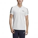 Adidas Men's COTTON PIQUE 3S POLO SHIRT - White Adidas Men's COTTON PIQUE 3S POLO SHIRT - White
