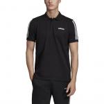 Adidas Men's COTTON PIQUE 3S POLO SHIRT - BLACK Adidas Men's COTTON PIQUE 3S POLO SHIRT - BLACK