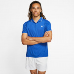 Nike Men's Court Dri-Fit Polo - GAME ROYAL/WHITE/WHITE Nike Men's Court Dri-Fit Polo - GAME ROYAL/WHITE/WHITE