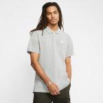 Nike Mens Sportswear Polo - DK GREY HEATHER/WHITE Nike Mens Sportswear Polo - DK GREY HEATHER/WHITE