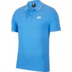Nike Mens Sportswear Polo - PACIFIC BLUE/WHITE Nike Mens Sportswear Polo - PACIFIC BLUE/WHITE