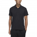 Adidas Mens Must Haves Polo Shirt - BLACK Adidas Mens Must Haves Polo Shirt - BLACK