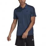 Adidas Mens Designed To Move Sport 3-Stripes Polo Shirt - Crew Navy Adidas Mens Designed To Move Sport 3-Stripes Polo Shirt - Crew Navy