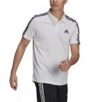 Adidas Mens Designed To Move Sport 3-Stripes Polo Shirt - WHITE Adidas Mens Designed To Move Sport 3-Stripes Polo Shirt - WHITE