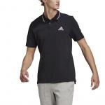 Adidas Mens Essentials Pique Polo - Black/White Adidas Mens Essentials Pique Polo - Black/White