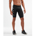 2XU Men's TR2 Compression Shorts - BLACK/SILVER 2XU Men's TR2 Compression Shorts - BLACK/SILVER